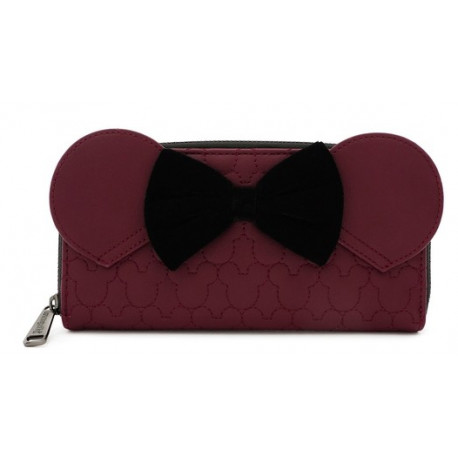 Cartera Loungefly Disney Minnie Mouse Granate