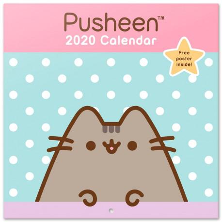 Calendario pared 2020 Pusheen Rose Collection