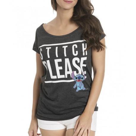 Camiseta Chica Stitch Please Disney