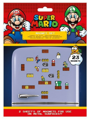 Set de 23 imanes Super Mario