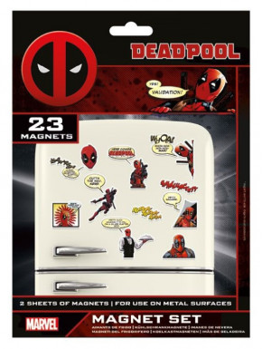 Set de imanes Deadpool Marvel