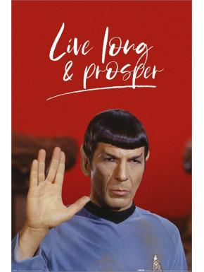 Póster Star Trek Live Long & Prosper