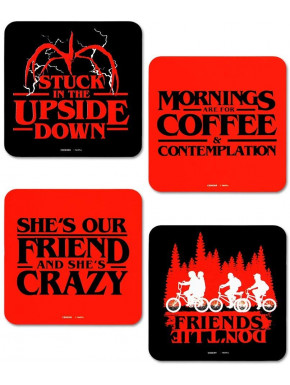 Set de 4 Posavasos Stranger Things