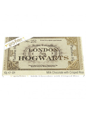 Chocolate Ticket London to Hogwarts 9 3/4 Harry Potter