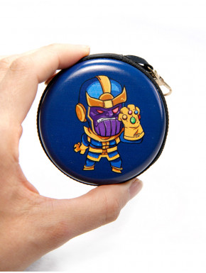 cartera redonda llavero thanos marvel