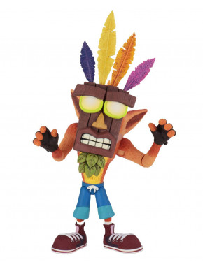 Figura Deluxe Crash Bandicoot con Aku Aku Mascara 14 cm
