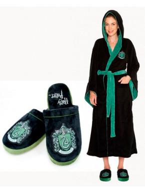 Pack Albornoz chica y zapatillas Slytherin