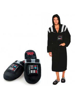 Pack albornoz y zapatillas polares con sonido Darth Vader Star Wars
