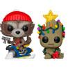 Pack Funko Pop! Groot y Rocket Racoon Edición Navidad