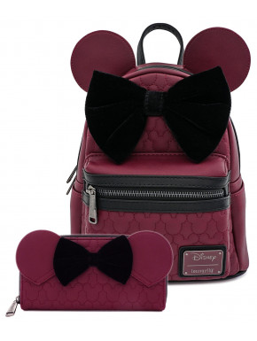 Bolso mochila Loungefly Minnie Granate