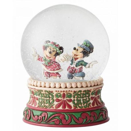 Bola de Nieve Mickey & Minnie Navidad Disney Jim Shore
