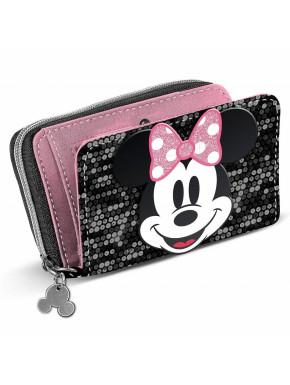 Cartera Billetera Minnie Mouse Lentejuelas Disney