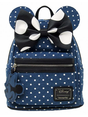 Bolso mochila Denim Loungefly Minnie