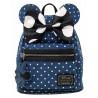 Bolso mochila Loungefly Minnie Mouse Denim