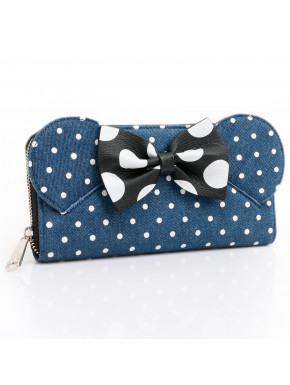 Cartera Loungefly Denim Disney Minnie Mouse