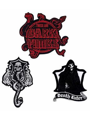Set de Parches Escudos Artes Oscuras Harry Potter