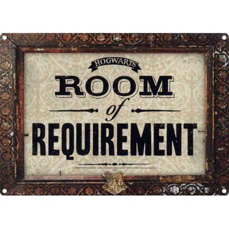 Placa Metal Room of Requirement Harry Potter