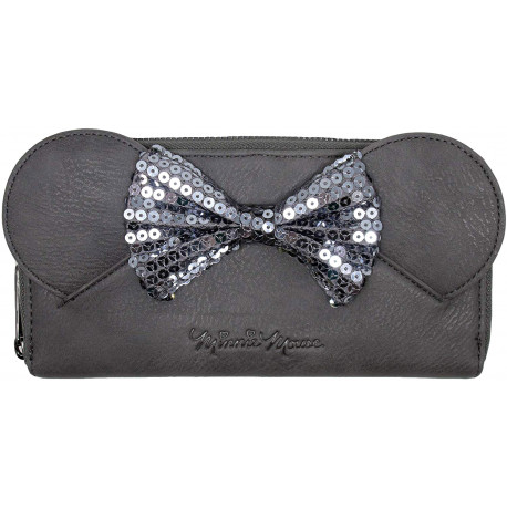 Cartera Loungefly Gris Disney Minnie Mouse