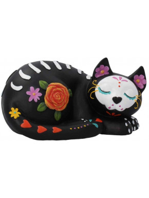 Figura Gatito Dormido Día de los Muertos