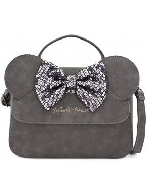 Bolso Bandolera Minnie Mouse Gris Disney Loungefly