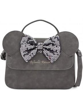 Bolso Bandolera Minnie Mouse Gris Disney Loungefly
