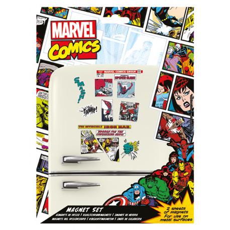 Set imanes Marvel Retro