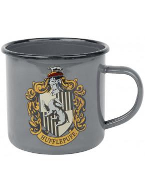 Taza Metálica Hufflepuff Logo Harry Potter
