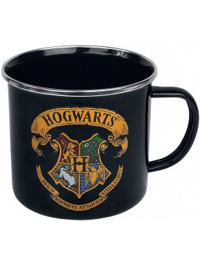 Taza Metálica Hogwarts Logo Harry Potter