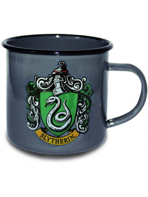 Taza Metálica Slytherin Logo Harry Potter