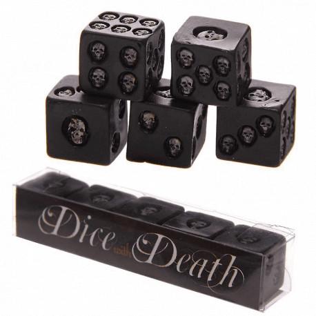 Set de Dados Negros con Calaveras