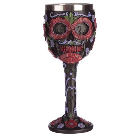 Copa Deluxe Calavera Día de los Muertos Negra