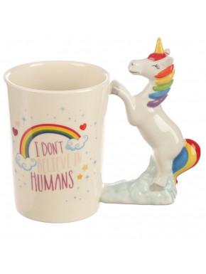 Taza 3D Unicornio Arcoiris Slogan