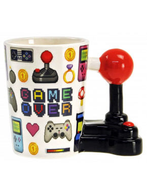 Taza 3D Game Over Retrogaming