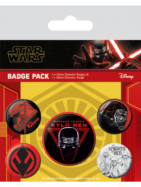 Pack de Chapas Star Wars Episodio 9 Sith