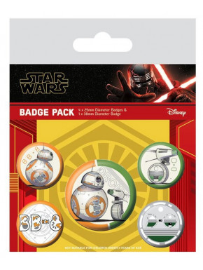 Pack de Chapas Star Wars Episodio 9 Droides