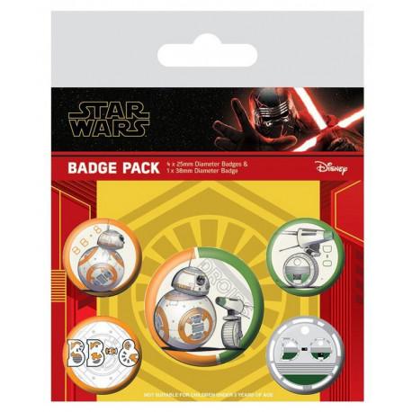 Pack de Chapas Episode IX Star Wars Droids