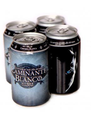 PACK 4 latas Cerveza Artesana Caminante Blanco 33 cl
