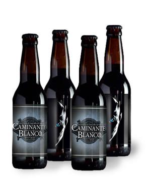 PACK 4 Cervezas Artesanas Caminante Blanco 33 cl