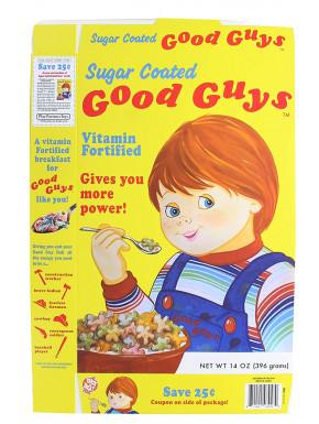 Réplica escala 1:1 Caja de Cereales Good Guys Chucky El Muñeco Diabólico