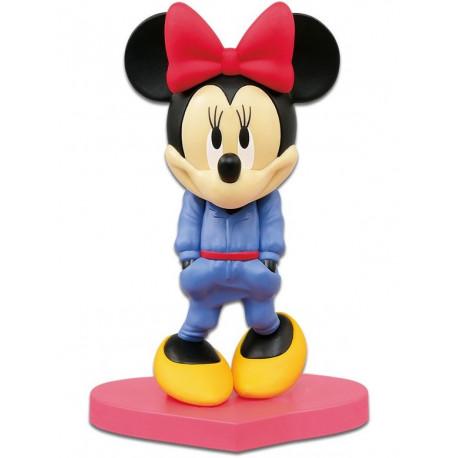 Figura Minnie Banpresto Azul Q Posket Disney 14 cm