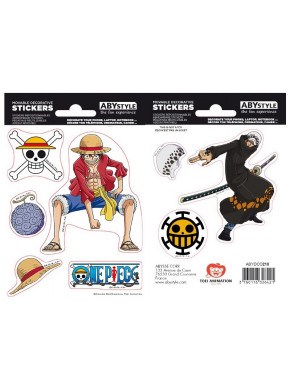 Pegatinas One Piece Luffy & Trafalgar Law