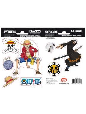 Pegatinas One Piece Luffy & Trafalgar Law