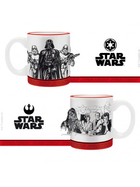 Set de 2 Mini Tazas Star Wars Imperio vs Rebeldes