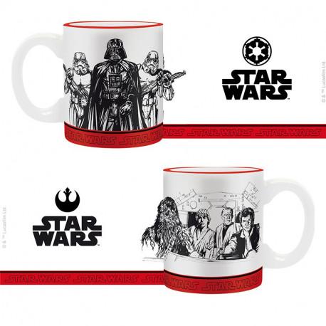 Set de 2 Mini Tazas Star Wars Imperio vs Rebeldes