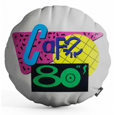 Cojín Regreso al futuro Café 80's