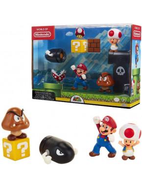Set de 5 Figuras Super Mario Bros Nintendo 6 cm