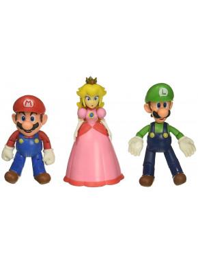 World of Nintendo Pack de 3 Figuras Mushroom Kingdom 10 cm