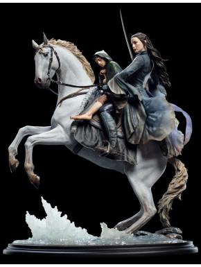 Estatua 1:6 Arwen & Frodo en Asfaloth 40 cm El Señor de los Anillos