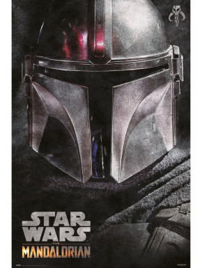 Póster The Mandalorian Star Wars Casco Logo