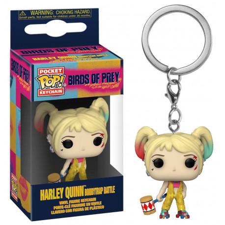 Llavero mini Funko Pop! Harley Quinn Birds of Prey Boobytrap battle